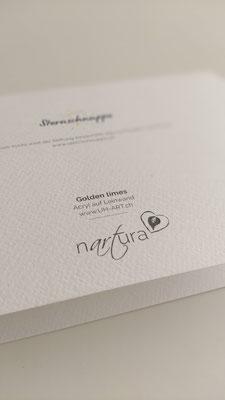 Charity Business - Weihnachtskarte mit neuem Logo von Stiftung Sternschnuppe