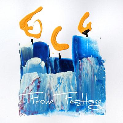 Blue candles für Stiftung Sternschnuppe