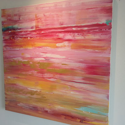 Blurred lines 80 x 80 cm