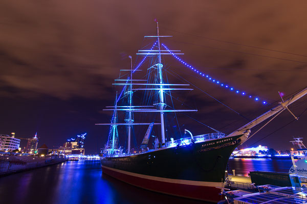 Hamburg Blue Port 2017: Rickmer Rickmers im Superweitwinkel