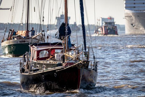Die Schildmaid auf der Elbe