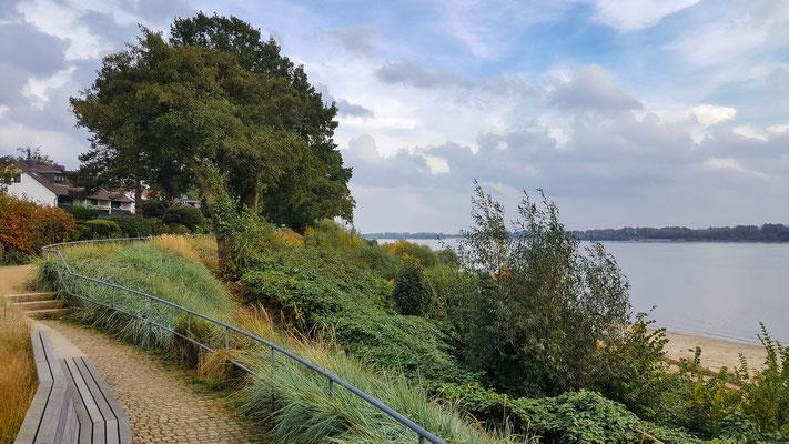 Elbwanderweg und Elbe