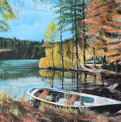 Bild-Nr. 7744 Titel: Waldsee im Herbst
