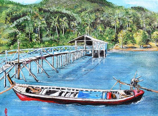 Bild-Nr. 1922 Titel: Ablegen nach Phang Nga - Thailand