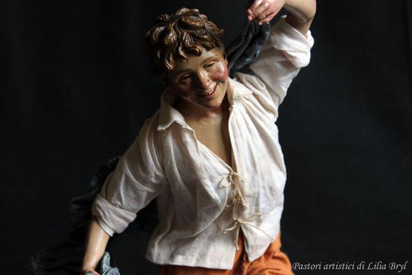 Piccolo danzatore, pastore napoletano stile '700 di Lilia Bryl,  DAN005