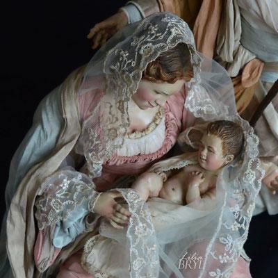Madonna, particolare. Pastori napoletani stile 700 di Lilia Bryl. Cod NAT016B
