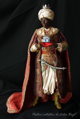 Re magi - Baldassarre. Lilia Bryl'. Pastori napoletani stile settecento