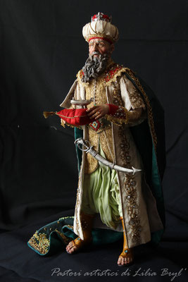 Re magi - Melchiorre. Lilia Bryl'. Pastori napoletani stile settecento