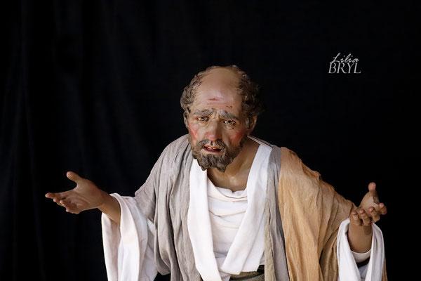 San Giuseppe, Pastori artistici di Lilia Bryl, interpretazione moderna dello stile  '700 napoletano Cod NAT014