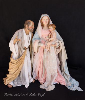 """Natività """"modesta"""", Pastori artistici di Lilia Bryl, interpretazione moderna dello stile  '700 napoletano Cod NAT014"""