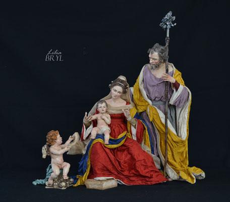 Natività napoletana, S. Giuseppe, Vergine e Gesù Bambino Cod NAT011