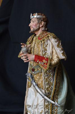 Re Magi stile '700 napoletano - il giovane Re. Re magi di Lilia Bryl. Pastori napoletani stile settecento