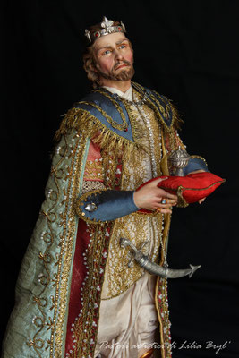 Re magi - Gaspare. Lilia Bryl'. Pastori napoletani stile settecento