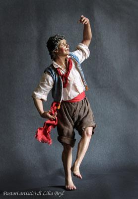 Danzatore, pastore napoletano stile '700 di Lilia Bryl,  DAN009