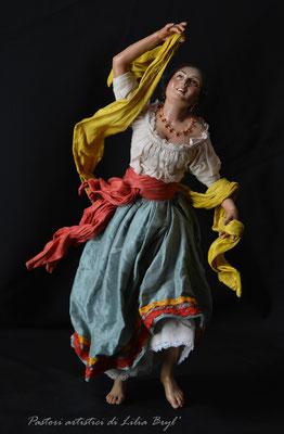 Danzatrice, pastore napoletano stile '700 di Lilia Bryl, DAN010