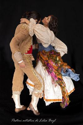 Danzatori, Pastori di Lilia Bryl in stile '700 spagnolo