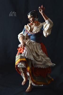 Danzatrice, pastore napoletano stile '700 di Lilia Bryl, DAN012