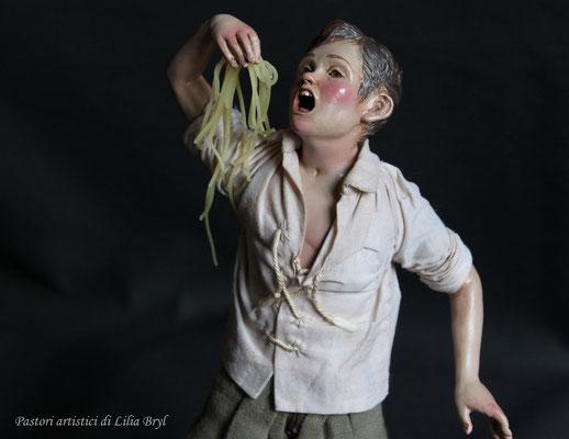 Mangiatori di spaghetti. Uno schugnizzo. Lilia Bryl'