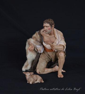 Pastore della meraviglia di Lilia Bryl. Pastori stile '700 napoletano.  Cod. RUS-011