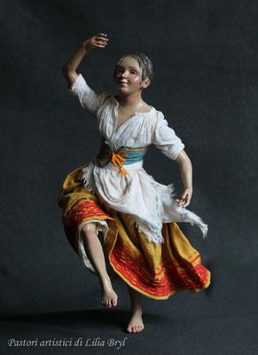 Piccola danzatrice, pastore napoletano stile '700 di Lilia Bryl, DAN008