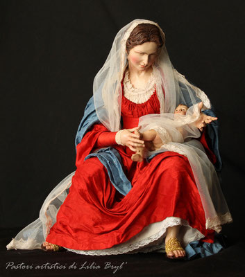 Natività in stile '700 napoletano, Madonna. Lilia Bryl' Cod NAT010