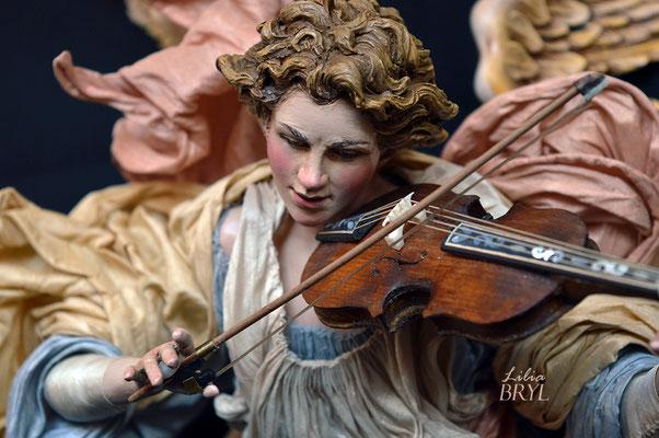 Angelo con violino. Un pastore pastore napoletano di Lilia Bryl Cod ANG015
