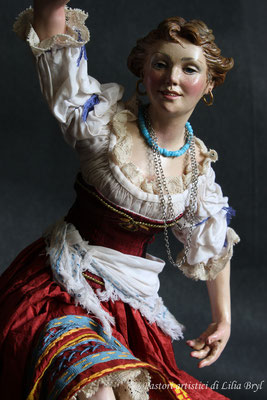 Danzatrice, pastore napoletano stile '700 di Lilia Bryl,  DAN007