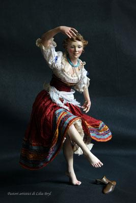 Danzatrice, pastore napoletano stile '700 di Lilia Bryl, Cod DAN007