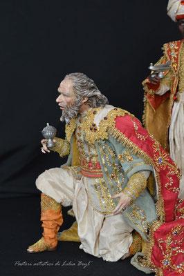 Re magi di Lilia Bryl. Pastori napoletani stile settecento