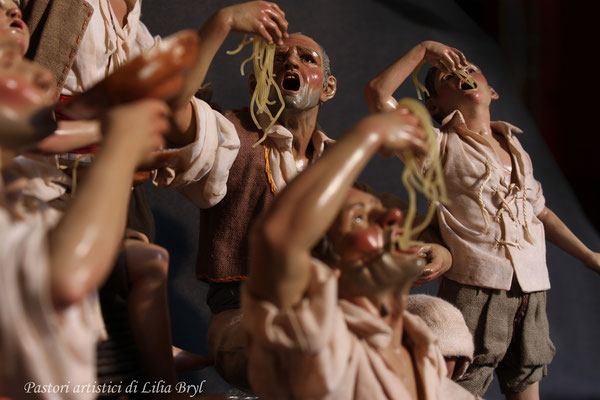 Mangiatori di spaghetti. Lilia Bryl'