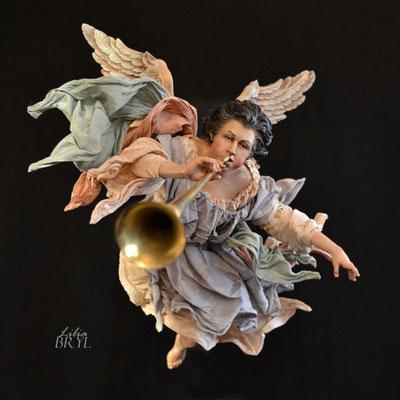 Angelo con la tromba. Un pastore pastore napoletano di Lilia Bryl. Cod ANG011