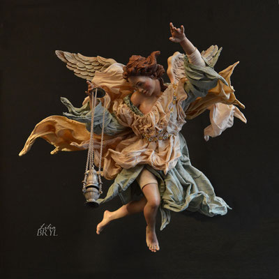 Angelo con incensiere. Un pastore pastore napoletano di Lilia Bryl. Cod ANG012