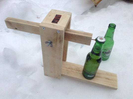 Catapulte pour ouvrir les bières !