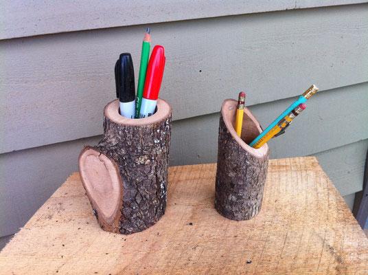 Fabrication d'un pot à crayon avec une branche
