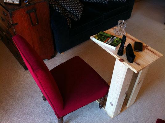 Fabrication d'une table pour le canapé