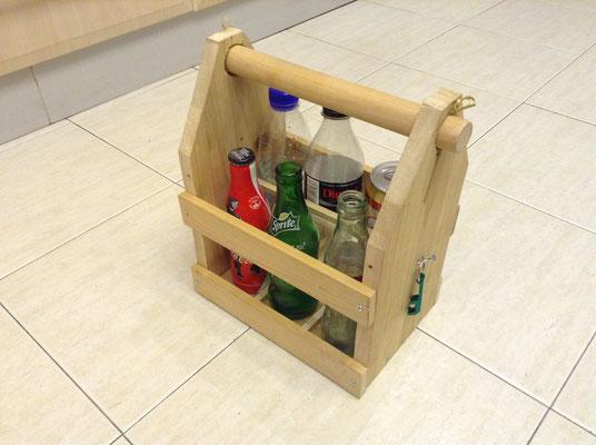 Fabrication d'un caisson pour transporter des bouteilles