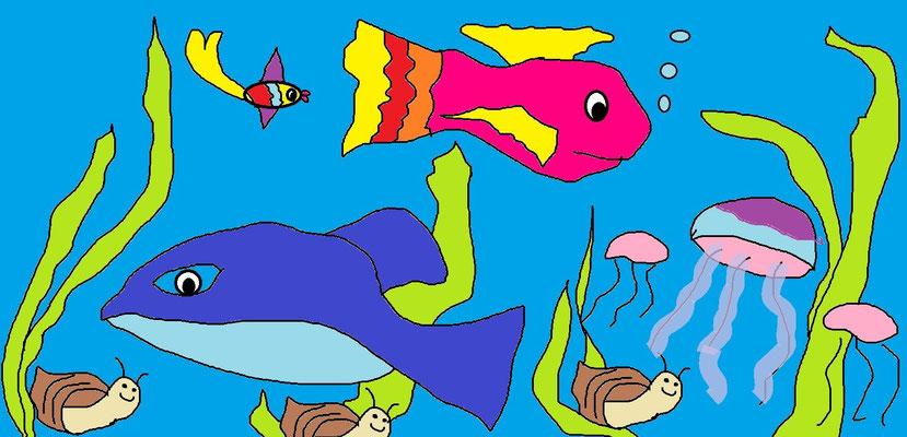 Подводное царство. Туровская Майя 10 лет, г. Реутов