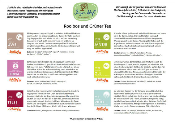 Rooibos und Grüner Tee