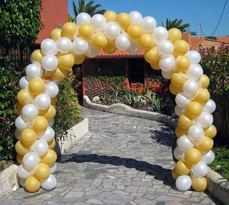 arco de globos para jardin
