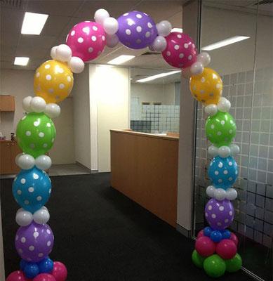 arco de globos link loon con helio
