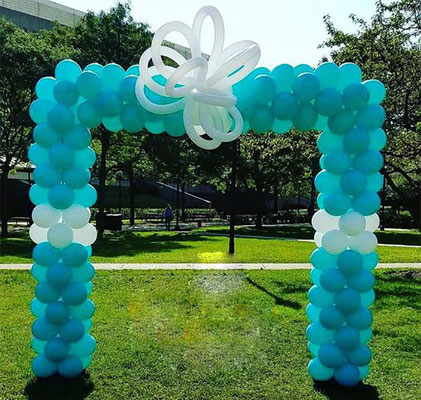 arco de globos cuadrado para jardin