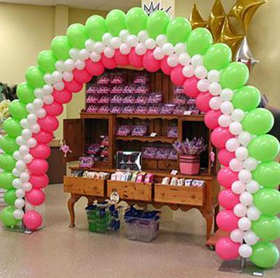arco de globos para mesa de postres
