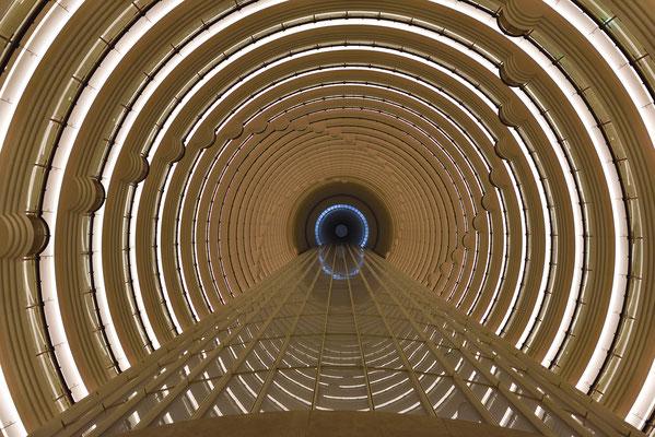 Besuch im Jin Mao Tower, genauer dem Grand Hyatt Hotel