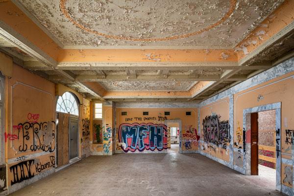 Die ursprüngliche Teestube wurde später als Ballsaal und Restaurant genutzt.