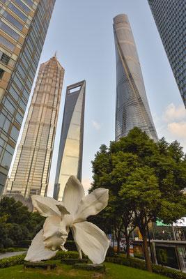 Der Shanghai Tower ist das zweithöchste Gebäude der Welt