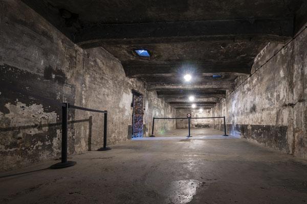 In dieser Gaskammer unternahm man die ersten Großversuche mit Zyklon B.