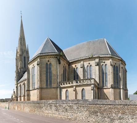 Die Kirche (Eglise) von Saint Aubin - Panorama