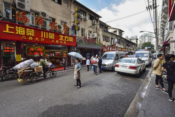 Straßenleben in Shanghai