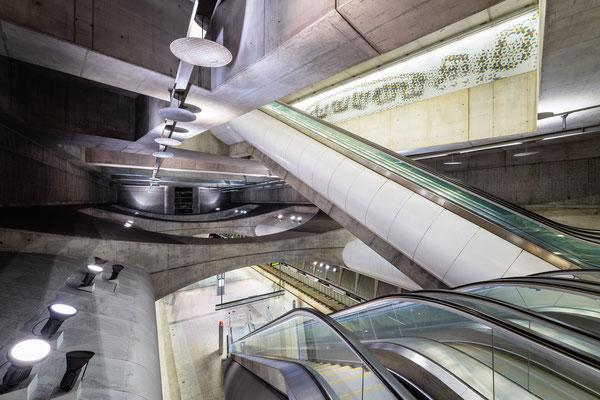 Kálvin tér Metro Station Budapest