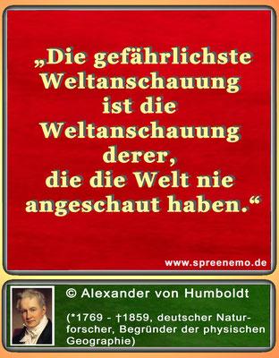 Zitat Alexander von Humboldt
